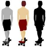 Skateboarder Set Stock Photography
