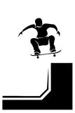 Skateboarder silhouette Royalty Free Stock Photo