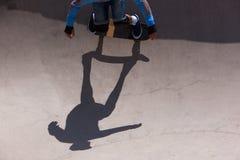 Skateboarder in skate park Stock Photo