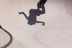 Skateboarder in skate park Royalty Free Stock Image