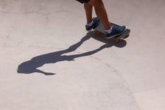 Skateboarder in skate park Stock Photography