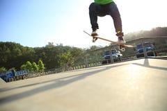 Skateboarder skateboarding at city Royalty Free Stock Image