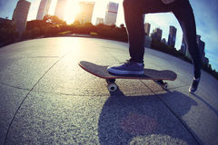 Skateboarder skateboarding Royalty Free Stock Photography