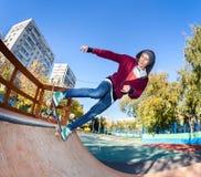 Skateboarder in the skatepark Royalty Free Stock Photos