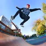 Skateboarder in the skatepark Stock Photography