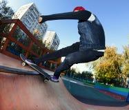 Skateboarder in the skatepark Stock Photos