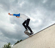 Skateboarder in the skatepark Stock Photography