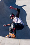 Skateboarder Skates In Big Bowl Royalty Free Stock Photo