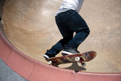 Skateboarder Skating Inside Royalty Free Stock Photos