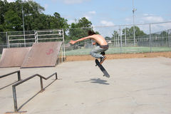 Skateboarder in sosta fotografie stock