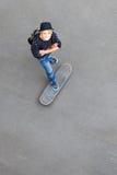 skateboarder teenager Fotografia Stock Libera da Diritti