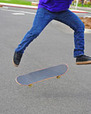 Skateboarder trick Royalty Free Stock Photography