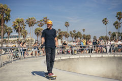 Skateboarder, Venice Beach, Los Angeles Royalty Free Stock Images