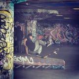 Skateboarderen Arkivbild