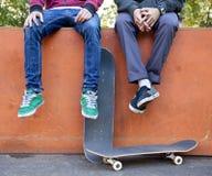 Skateboarders royalty-vrije stock afbeelding