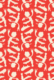 Skateboarders cool pattern Royalty Free Stock Photography