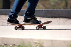 Skateboarders Feet Close Up Stock Photos
