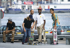 Skateboarders hanging out Stock Photography