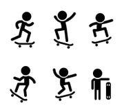 Skateboarders icons in vector design Stock Photo