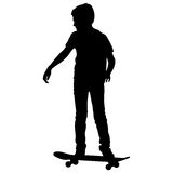 Skateboarders silhouette. Royalty Free Stock Photo