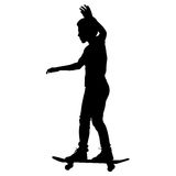 Skateboarders silhouette. Stock Images