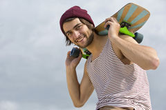 Skateboarderstående Arkivfoton