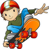 Skateboardfahrer-Kindervektor Lizenzfreies Stockfoto