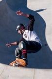 Skateboardfahrer-Rochen in der großen Schüssel Lizenzfreies Stockfoto