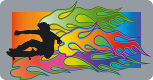 Skateboardfahrer - Vektor Lizenzfreie Stockfotografie