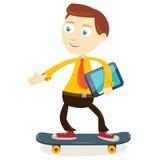 Skateboarding бизнесмена Стоковая Фотография RF