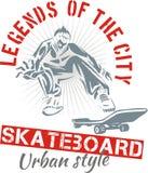 Skateboarding - городской стиль, иллюстрация вектора иллюстрация штока