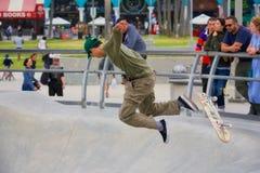 skateboarding на пляже Венеции Стоковое фото RF