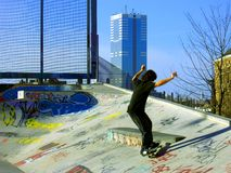 Skateboarding Photo libre de droits