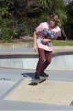 Skateboarding - воссоздание и спорт стоковые изображения rf