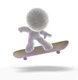 Skateboarding 3D man Royalty Free Stock Images