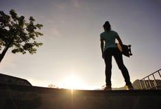 skateboarding royalty-vrije stock afbeelding