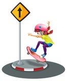 skateboarding Fotografia de Stock Royalty Free