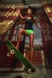 skateboarding Royaltyfri Bild