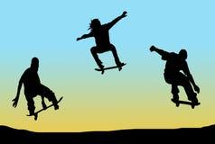 skateboarding Photos libres de droits