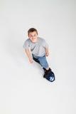 Skateboarding adolescente del muchacho Imágenes de archivo libres de regalías