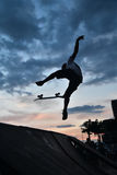 Skateboarding as extreme and fun sport. Royalty Free Stock Image