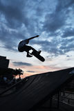 Skateboarding as extreme and fun sport. Stock Photography