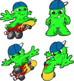 Skateboarding Booger Set Stock Image