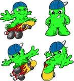 Skateboarding Booger Set Stock Image