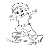 Skateboarding boy Royalty Free Stock Photography