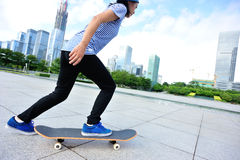 Skateboarding at city Stock Photography