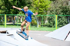 Skateboarding. City of Orenburg, Southern Ural, Russia Stock Photo