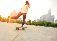 Skateboarding at city Royalty Free Stock Photo