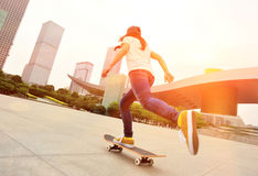 Skateboarding at city Stock Photo
