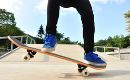 Skateboarding at city Royalty Free Stock Photo